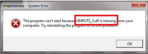 Top 5 methods to fix xinput1_3. Dll missing on windows10/8. 1/8/7.